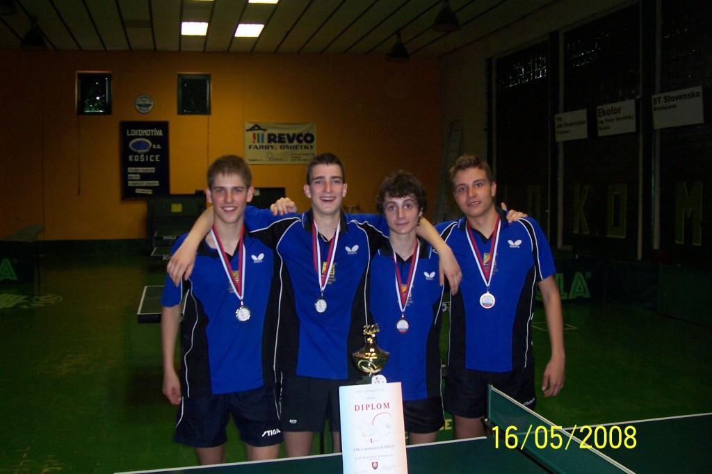 Majstrovstvá družstiev juniorov 2009 (na fotke je zlý dátum)