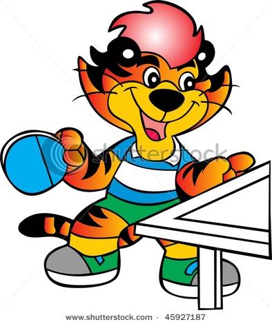 stock-vector-table-tennis-tiger-vector-45927187